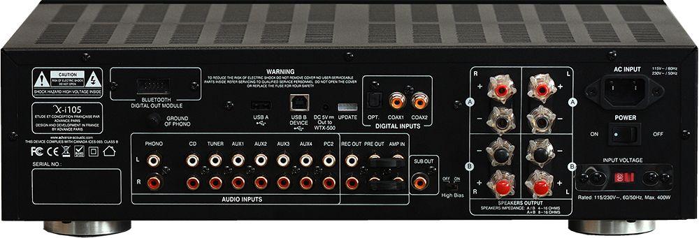 Nouvel amplificateur Advance X-i105