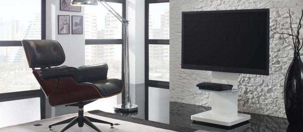 gisan fs101 blanc meubles et pieds tv. Black Bedroom Furniture Sets. Home Design Ideas