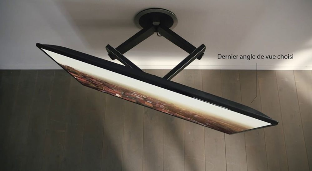 Support TV mural motorisé pour écran de 40 à 65 pouces (102 à 165 cm) - VOGEL'S DesignMount NEXT 7355