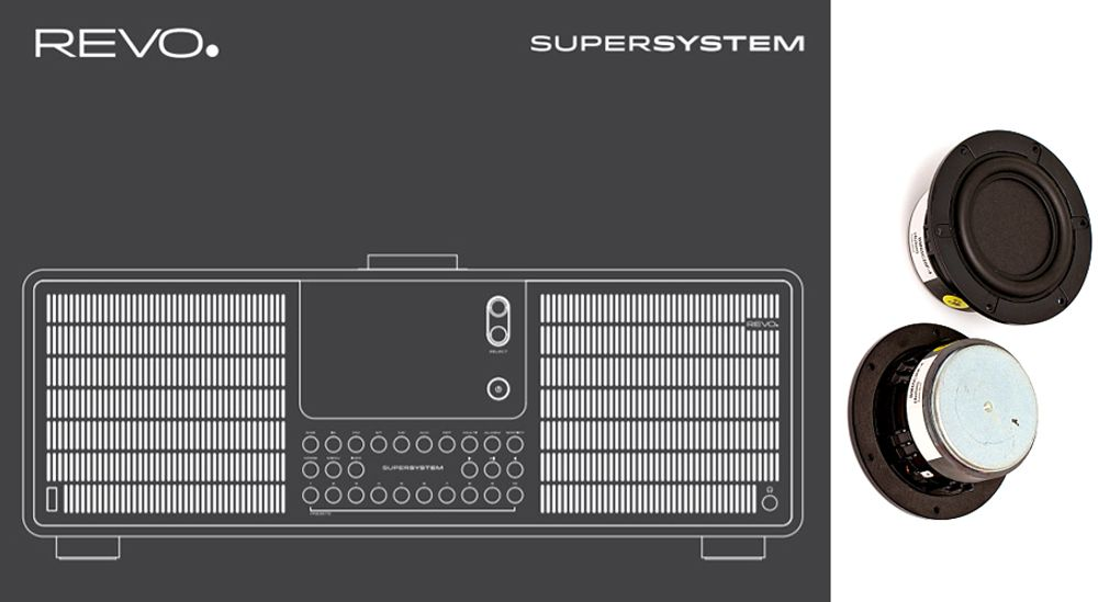 Radio FM RDS, DAB, DAB+ amplification de 80 W et connectivité sans fil Bluetooth®, Wi-Fi™ et DLNA - REVO SuperSystem