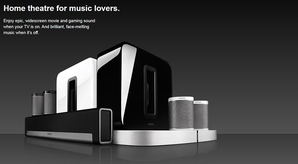 SONOS PLAYBAR + SUB + PLAY:1 (x2) – Home Cinéma 5.1