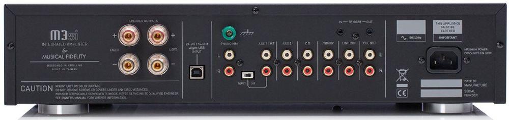 Avec son entrée USB asynchrone, le Musical Fidelity M3si peut lire les flux numériques jusqu'en 24/96