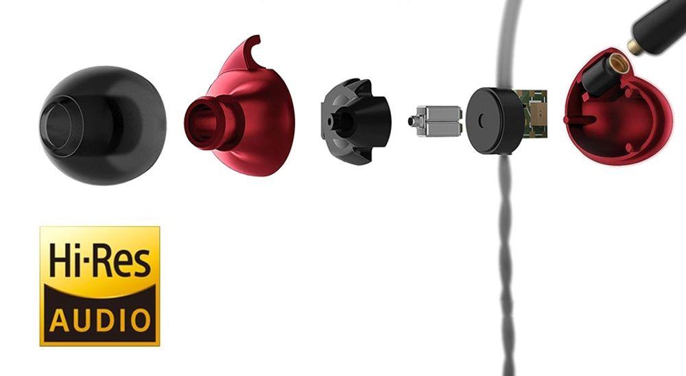 Casque intra-auriculaire  hybride avec construction 3 voies certifié Hi-Res Audio - FIIO F9