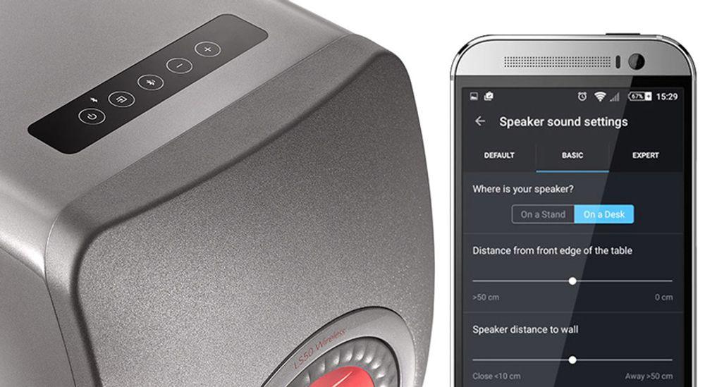 Enceinte bibliothèque sans fil amplifiée Wi-Fi™ et Bluetooth® - KEF LS50 Wireless