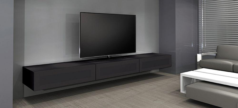 Norstone khalm 140 gris meubles et pieds tv - Meuble tv fixation murale ...