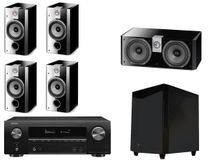 DENON AVR-X1600H Noir + FOCAL Pack 5.1 CHORUS 706 V + CC700 + SW700 Black High Gloss