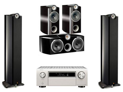 DENON AVC-X6500H Silver + TRIANGLE GENESE QUARTET + VOCE + TRIO Noir Laqué