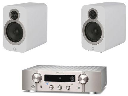 Marantz PM7000N Silver Gold + Q Acoustics 3020i Blanc