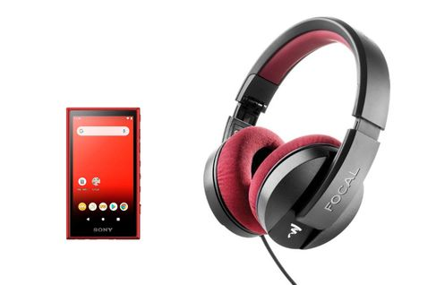SONY NW-A105 ROUGE + FOCAL LISTEN PRO