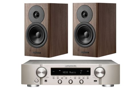 Marantz NR1200 Silver Gold + Dynaudio EVOKE 10 Walnut Wood