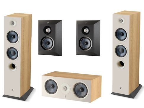 Focal Pack 5.0 Chora 816 + Chora Center + Chora Surround Light Wood / Black