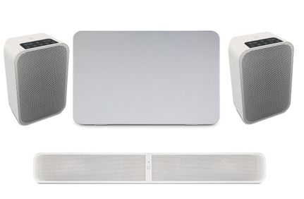 BLUESOUND PULSE SOUNDBAR 2i Blanc + PULSE SUB Blanc + PULSE FLEX 2i Blanc