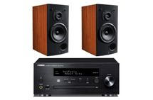 YAMAHA MusicCast CRX-N470D Noir  + TRIANGLE COMETE 902 Cognac