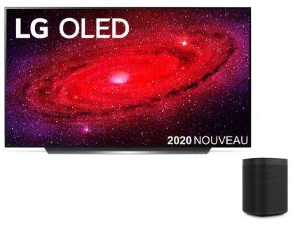 LG OLED65CX6 + SONOS ONE (GEN 2) Noir