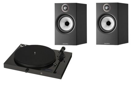 PROJECT JUKE BOX E Piano Black (avec OM5)  + BW 606 S2 Anniversary Edition Noir