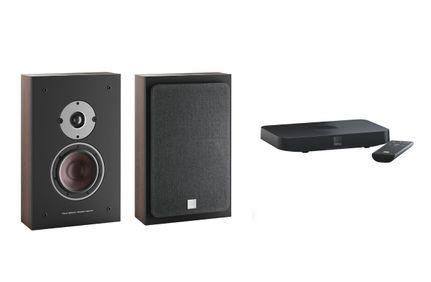 DALI OBERON ON-WALL C Noyer Foncé x 2 + SOUND HUB COMPACT