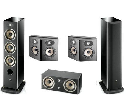 FOCAL Pack 5.0 ARIA 926 + CC900 + SR900 Black High Gloss