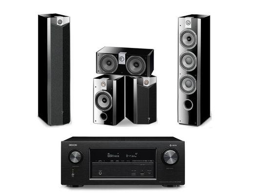 DENON AVR-X2400H Noir + FOCAL Pack 726 5.0