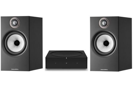 SONOS AMP Noir + Bowers & Wilkins 606 S2 Anniversary Edition Noir