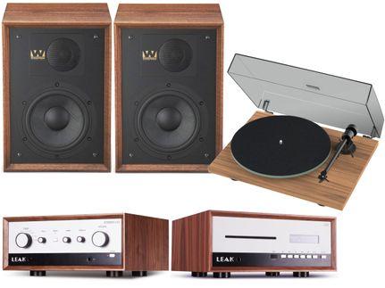 Leak Stereo 130 + CDT + ProJect T1 + Wharfedale Denton 85 Walnut