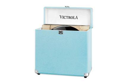 VICTROLA Valise à Vinyles Turquoise