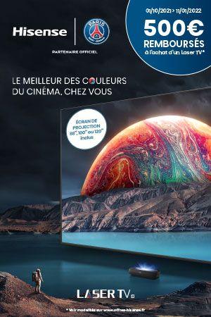 Hisense rembourse 500€ sur ses Laser TV