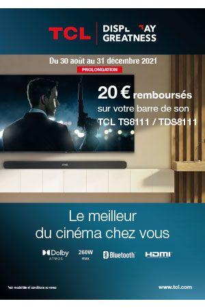 Barre TCL TS8111 : 20€ remboursés