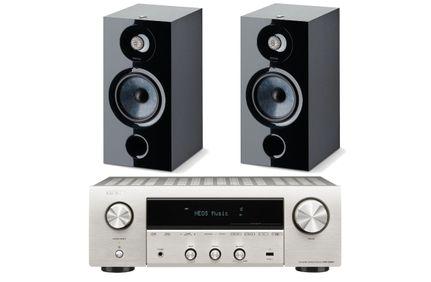 DENON DRA-800H Silver + FOCAL CHORA 806 Black
