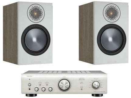 DENON PMA-600NE Silver Premium + MONITOR AUDIO BRONZE 50 Urban Grey
