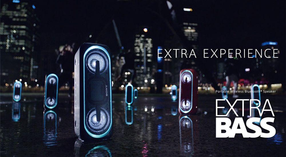 Enceinte sans fil Bluetooth® LDAC + NFC avec protection IPX5 - SONY SRS-XB40
