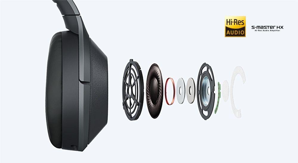 Casque sans fil Bluetooth® aptX™ HD, LDAC et NFC avec systèmes de réduction de bruit et de contrôle audio - SONY WH-1000XM2