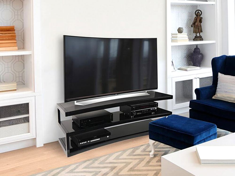 norstone esse curve noir noir meubles et pieds tv. Black Bedroom Furniture Sets. Home Design Ideas